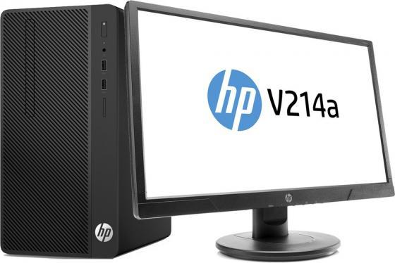 Компьютер HP Bundle 290 G1 MT (2TP49ES) i3-7100 (3.9)/4GB/1TB/Int: Intel HD 630/DVD-RW/Kb+M/DOS (Black) + монитор V214a компьютер hp 290 g1 mt 1qn73ea i3 7100 3 9 4gb 500gb int intel hd 630 dvd rw kb m dos black монитор v214a