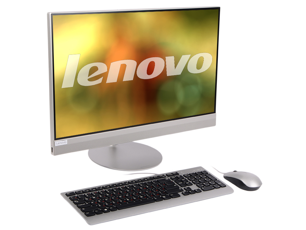Моноблок Lenovo IdeaCentre AIO 520-24IKU (F0D2001JRK) Pentium-4415U(2.3)/4Gb/1Tb/23.8 FHD (1920x1080)/Int:Intel HD 610/DVD-SM/BT/WiFi/KB+M/DOS Silver моноблок msi pro 20et 4bw 072ru celeron n3160 1 6 4gb 1tb 19 5 hd touch int intel hd dvd rw wifi bt cam kb m dos white
