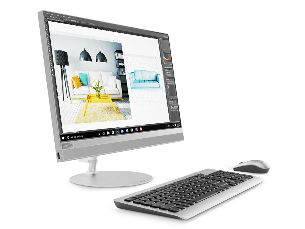 Моноблок Lenovo IdeaCentre AIO 520-24IKL (F0D1005SRK) i3-7100T(3.4)/4Gb/1Tb/23.8 FHD (1920x1080)/Int:Intel HD 630/DVD-SM/BT/WiFi/Win10/silver + клавиатура, мышь моноблок lenovo ideacentre aio 520 24ikl f0d1006crk i5 7400t 2 4 8gb 1tb 23 8 fhd 1920x1080 int intel hd 630 dvd sm bt wifi win10 black клавиатура мышь
