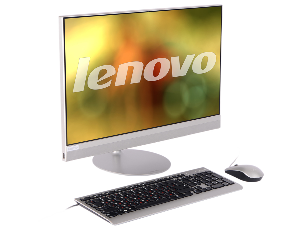 Моноблок Lenovo IdeaCentre AIO 520-24IKL (F0D1005SRK) i3-7100T(3.4)/4Gb/1Tb/23.8 FHD (1920x1080)/Int:Intel HD 630/DVD-SM/BT/WiFi/Win10/silver + клавиатура, мышь