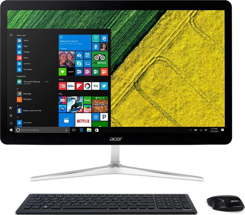 Моноблок Acer Aspire U27-880 (DQ.B8SER.005) i5-7200U (2.5) / 8Gb / 1Tb+16Gb Hybrid Drive / 27 FHD TN Touch / HD Graphics 620 / Win 10 / Silver моноблок acer aspire z3 715 dq b84er 005 23 8 full hd i3 7100t 8gb 1tb gf940m 2gb dvdrw cr w10 kb m черный