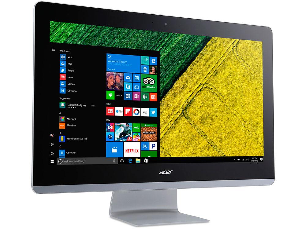 Моноблок Acer Aspire Z22-780 (DQ.B82ER.009) i5-7400T (2.4)/4GB/1TB/21.5 1920x1080/Int:Intel HD 630/DVD-SM/BT/Win10 Black acer aspire c20 720 white моноблок dq b6zer 009