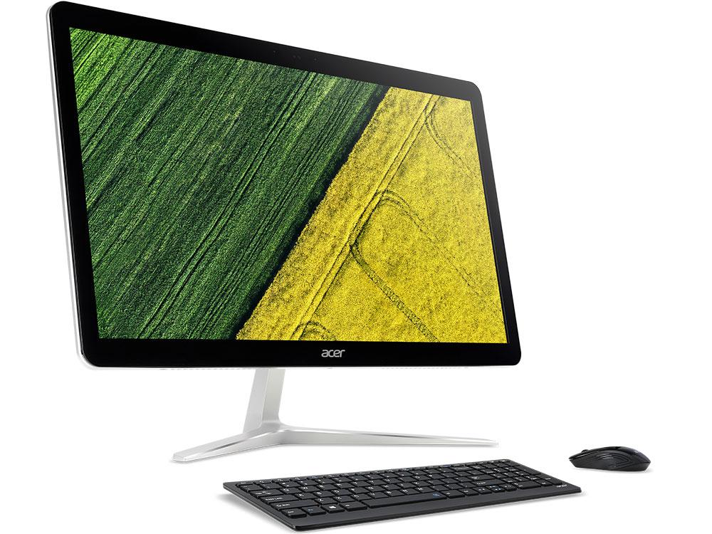 Моноблок Acer Aspire Z24-880 (DQ.B8TER.016) i5-7400T (2.4)/6GB/1TB/23.8 1920x1080/NV GF940MX 2GB/DVD-SM/BT/Win10 Silver ноутбук acer aspire vn7 572g 55j8 nx g7ser 008 i5 6200u 2 3 8gb 500gb 15 6 1366x768 nv gtx950m 4 gb dvd sm bluetooth win10 black