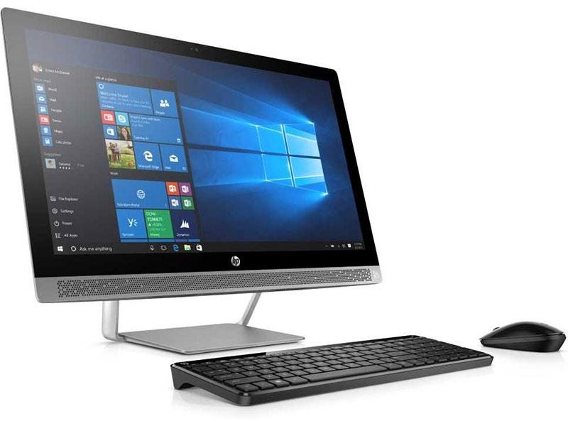 """Моноблок HP ProOne 440 G3 (1QM00ES) i5-7500T (2.7)/4GB/1TB+128GB SSD/23.8"""" 1920x1080/Int:Intel HD 630/DVD-SM/BT/Win10Pro Silver"""
