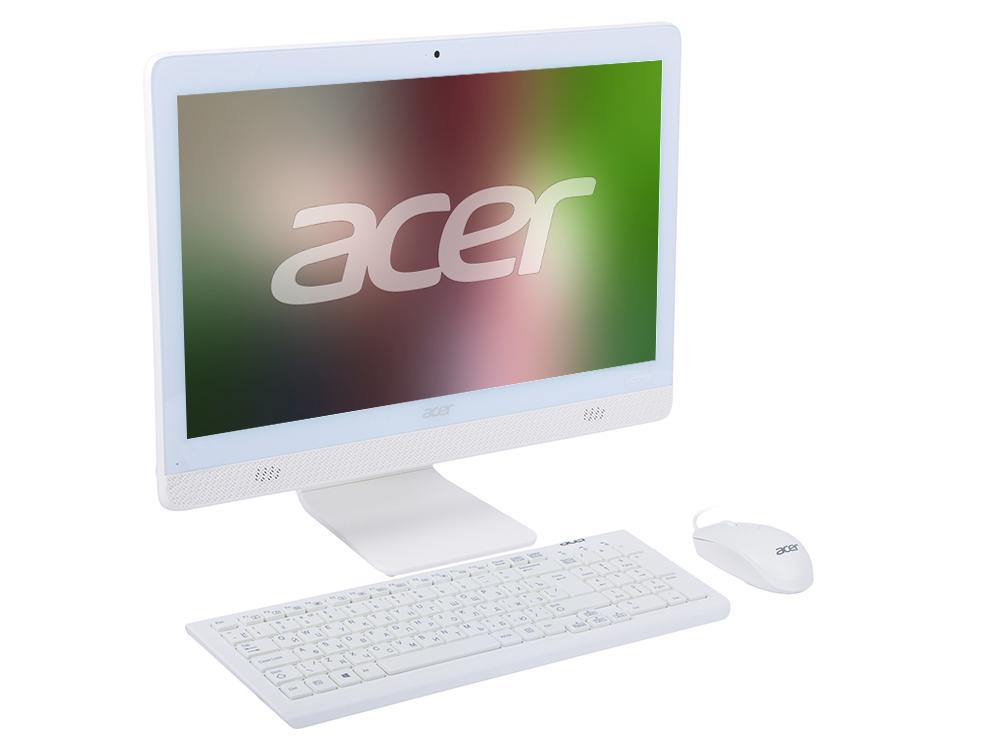 Моноблок Acer Aspire C20-720 (DQ.B6XER.007) Celeron-J3060 (1.6)/4GB/1TB/19.5 HD+/Int: Intel HDG/DVD-RW/WiFi/BT/Kb+M/DOS (White) acer aspire z1 612 cel n3050 1 6ghz 19 5 4gb 500gb dvd gma hd dos white dq b2ner 003