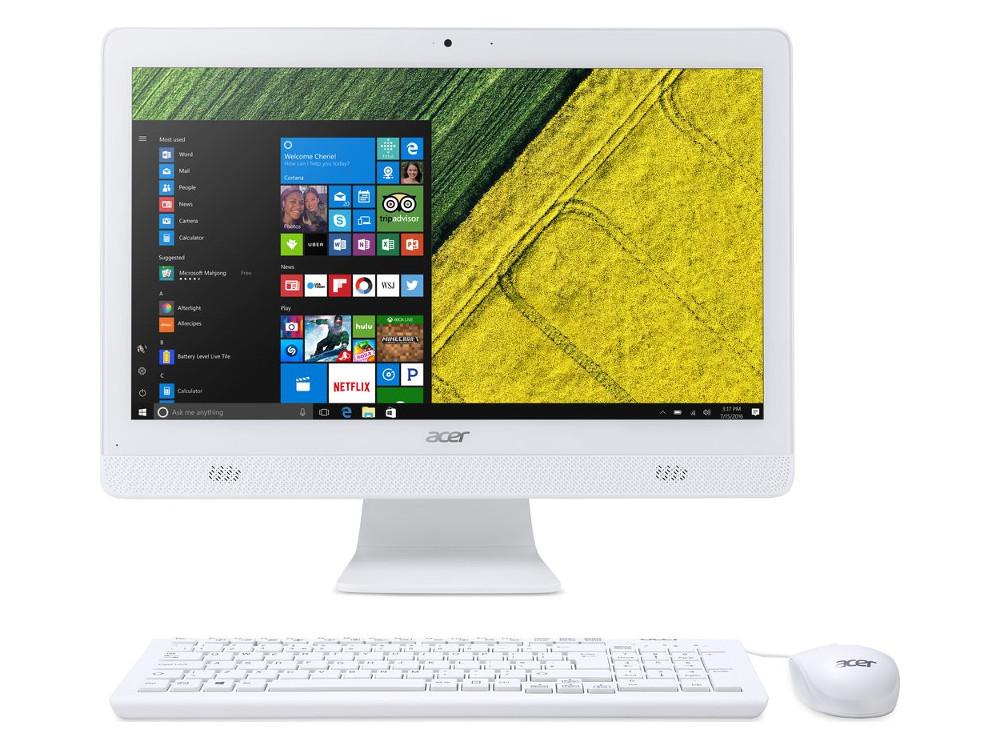 Моноблок Acer Aspire C20-720 (DQ.B6XER.009) Celeron-J3060 (1.6)/4GB/1TB/19.5 HD+/Int: Intel HDG/DVD-RW/WiFi/BT/Kb+M/Win10 (White) ноутбук acer extensa ex2519 p79w pentium n3710 4gb 500gb dvd rw intel hd graphics 405 15 6 hd 1366x768 linux black wifi bt cam 3500mah