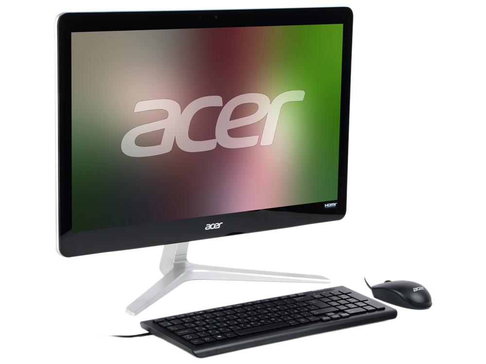 Моноблок Acer Aspire Z24-880 (DQ.B8VER.004) i5-7400T (2.4) / 4Gb / 1Tb / 23.8 FHD TN / HD Graphics 630 / DOS / Silver моноблок acer aspire z3 715 dq b84er 006 23 8 full hd i5 7400t 4gb 1tb gf940m 2gb dvdrw cr w10 kb m черный