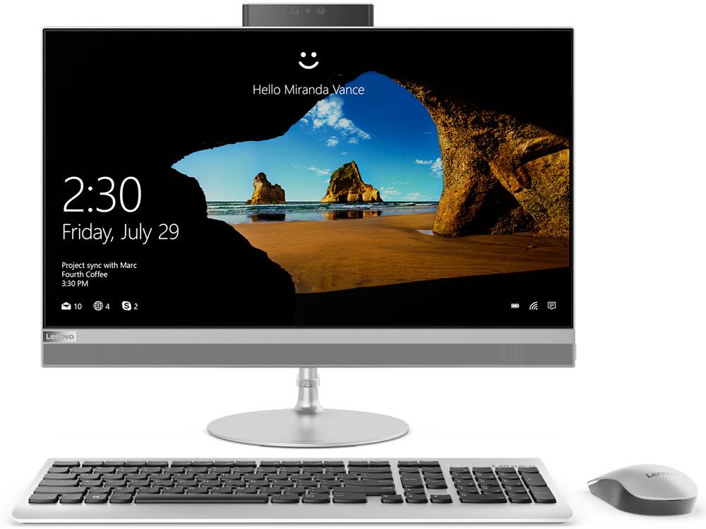 Моноблок Lenovo IdeaCentre AIO 520-24IKL (F0D1005WRK) i5-7400T (2.40)/8GB/1TB/23.8 1920x1080/GMA HD/DVD-RW/WiFi/BT4.0/Win10 Silver Kb+Mouse jishun jsw 1005 1 8 м 5 портов синий розетка