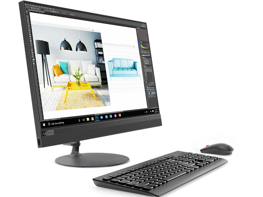 Моноблок Lenovo IdeaCentre AIO 520-24IKL (F0D1005YRK) i5-7400T (2.40)/8GB/2TB+128GB SSD/23.8 1920x1080/AMD 530 2G/DVD-RW/WiFi/BT4.0/Win10 Black Kb+Mouse jishun jsw 1005 1 8 м 5 портов синий розетка