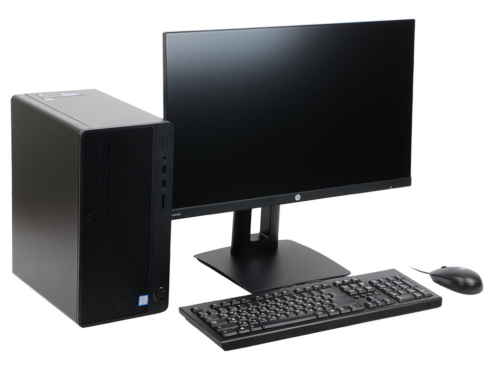 Системный блок HP 290 G1 MT (3EC03ES) Celeron 3900 (2.8)/4G/500G/Int:Intel HD 510/DVD-SM/Win10 Black + kb/mouse монитор в комплекте 23.8