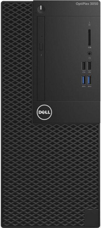 Системный блок Dell Optiplex 3050 MT (3050-6317) i3-6100 (3.7)/4G/500G/Int:Intel HD 530/DVD-SM/Win10Pro Black адаптер dell intel ethernet i350 1gb 4p 540 bbhf
