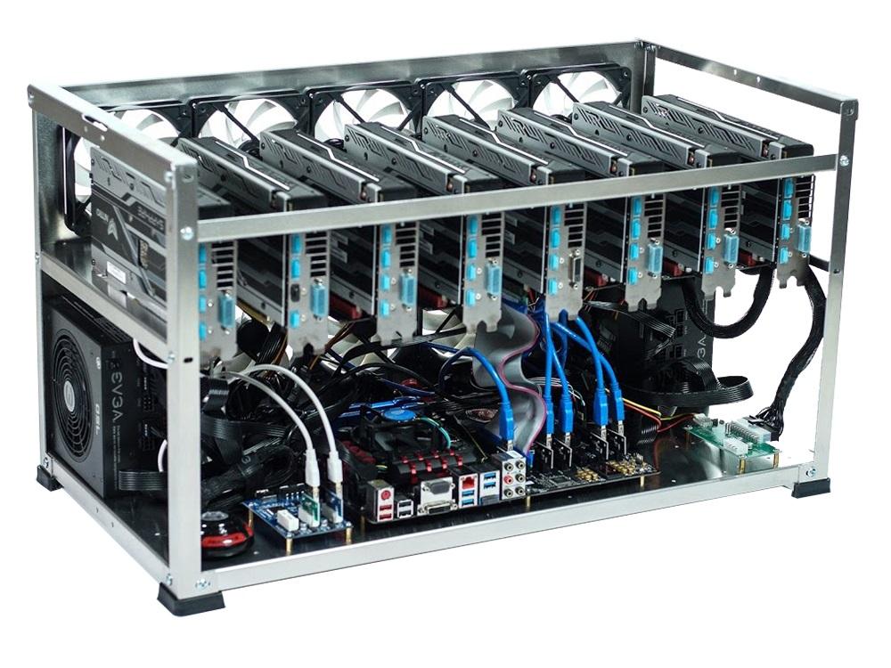 Набор для Майнинга 0549366 Intel Celeron G3900/4Gb/USB32Gb/8*4Gb P104-100/2*1000W процессор intel celeron g3900 box
