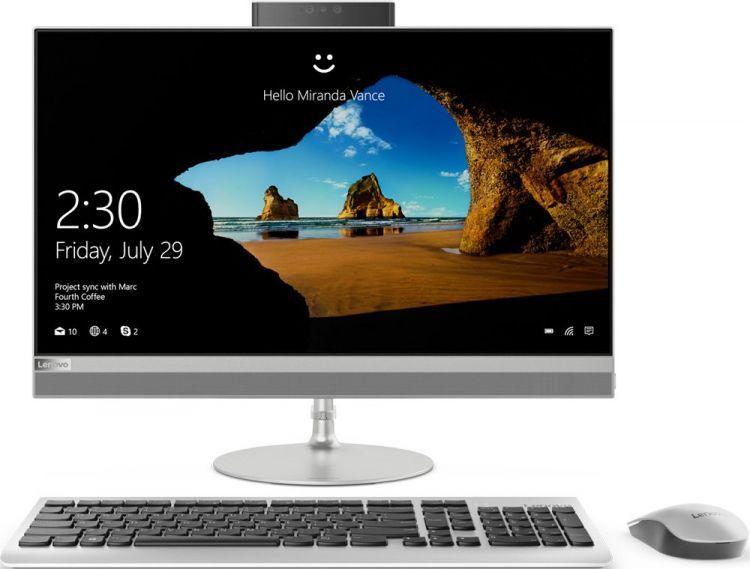 Моноблок Lenovo IdeaCentre 520-22IKL (F0D4000SRK) Pentium G4560T (2.9)/4Gb/1Tb/21.5 FHD TN/HD Graphics 610/Win10 Home/Silver
