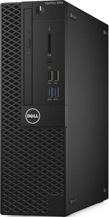 Компьютер Dell Optiplex 3050 SFF (3050-6331) Системный блок Black / i3 6100 3.7GHz / 4GB / 500GB / встроенная HD530 / DVD-RW / Win10 Pro системный блок dell optiplex 3050 sff i3 6100 3 7ghz 4gb 500gb hd620 dvd rw linux клавиатура мышь черный 3050 0405