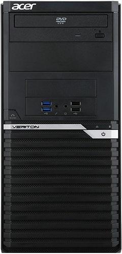 Компьютер Acer Veriton M2640G Tower DT.VPPER.142 Системный блок Black / i3 7100 3.9GHz / 4GB / 500GB / встроенная HD630 / DVD-RW / DOS ноутбук hp 15 bs027ur 1zj93ea core i3 6006u 4gb 500gb 15 6 dvd dos black