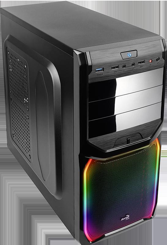 Компьютер Game PC 736R LED Системный блок Black / Ryzen 5 2600 3.4GHz / 8GB / 1TB / дискретная RX 560 4GB / DOS 1piece 5 75inch led headlight black