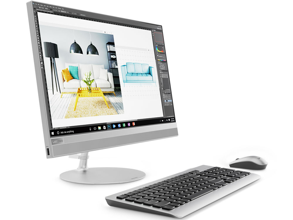Моноблок Lenovo IdeaCentre AIO 520-22IKU (F0D50055RK) i3-6006U(2.0)/4GB/1TB/21.5(1920x1080)/DVD-SM/Intel HD 520/BT/WiFi/Win10 Silver