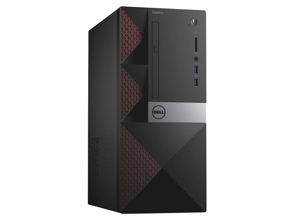 ПК Dell Vostro 3568 MT (3668-1788) i5-7400 (3.0) / 8GB / 1TB / NV GF GT710 2GB / DVD-SM / WiFi / BT / KB+M / Linux (Black) ноутбук dell vostro 3568 3568 0221 pentium 4415u 2 3 4gb 1tb 15 6 hd tn hd graphics 610 linux black
