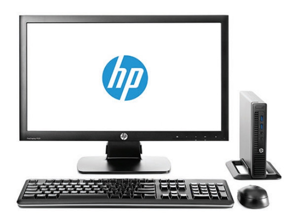 Компьютер HP 260 G2.5 DM Bundle (2TP22EA) i3-6100U (2.3) / 4GB / 500GB / Int: Intel HD 520 / WiFi / BT / Win10 Pro (Black) + монитор HP P232