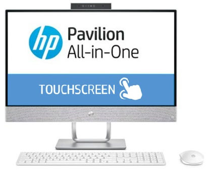 Моноблок HP Pavilion 24-x050ur (3ES07EA) i5 7400T(2.2) / 4Gb / 1Tb+16Gb Intel Optane / 23.8 FHD Touch IPS / Radeon R530 2Gb / Win10 Home / White blackview omega 5 0inch ips fhd 18mp camera android4 4 phone 2gb 16gb