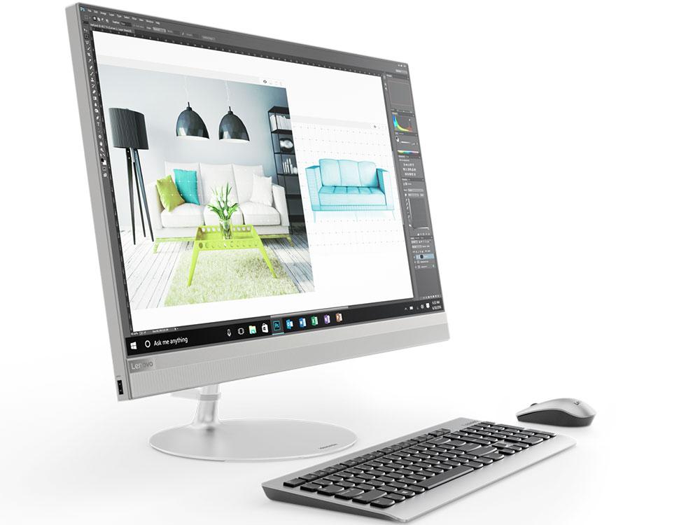 Моноблок Lenovo IdeaCentre 520-27IKL (F0D0004XRK) i3-7100T (3.4)/4G/1T+128G SSD/27UHD/Int:HD 630/DVDrw/BT/Win10 silver xiaomi notebook air 12 5 m3 4g 128g silver