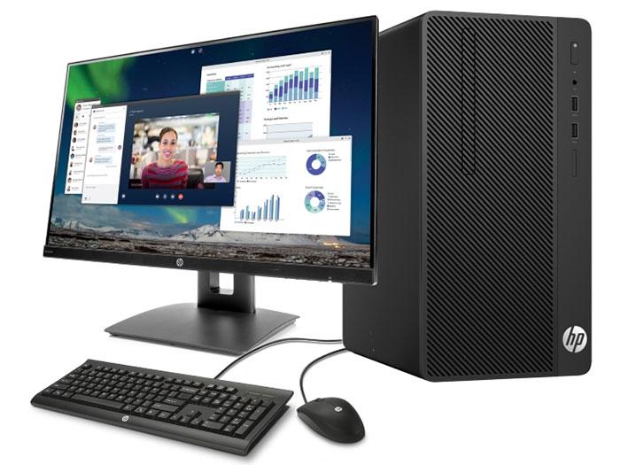 Системный блок HP Pro A MT (4CZ15EA) AMD Ryzen 3 PRO 2200G/4G/500G/AMD RX Vega 8/DVDRW/DOS черный+монитор V214a 20.7FHD системный блок
