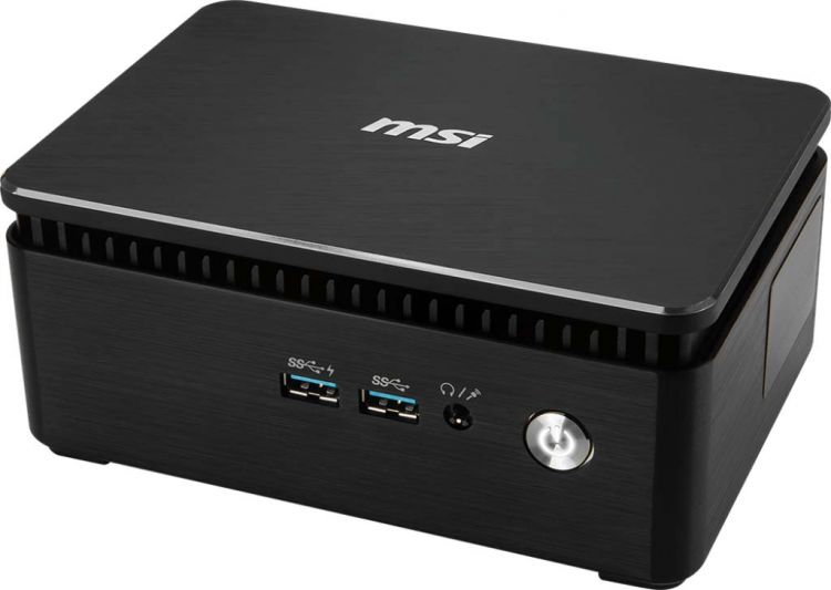 Компьютер MSI Cubi 3 Silent S-038XRU slim (9S6-B15921-038) i3 7100U/4G/500G/HDG/noOS/черный/серебристый