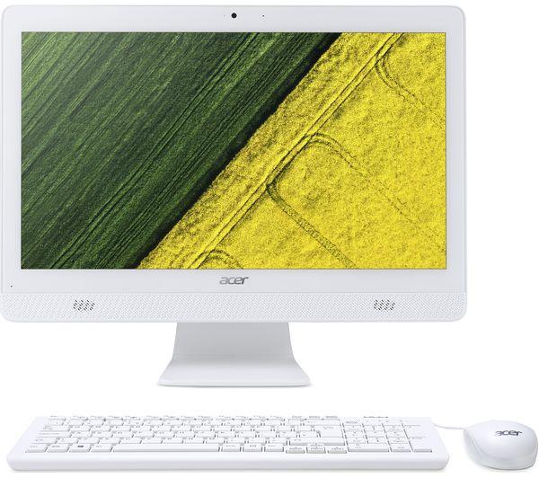 Моноблок Acer Aspire C20-820 (DQ.BC6ER.006) 19.5HD+/Pentium J3710/4Gb/1Tb/HDG405/DVDRW/CR/W10/kb/m/белый компьютер моноблок acer aspire c20 820 dq bc6er 004