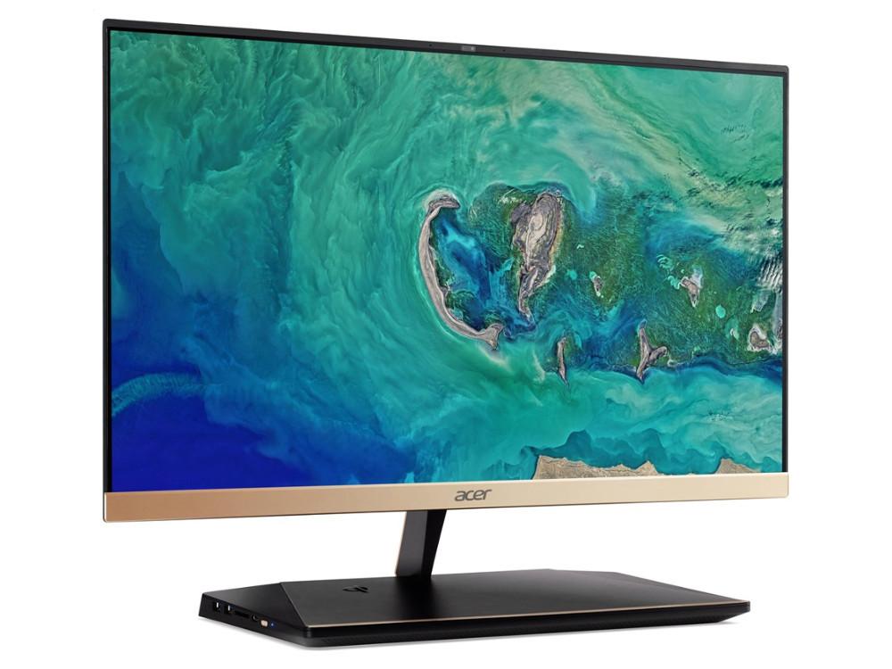 Моноблок Acer Aspire S24-880 (DQ.BA9ER.001) 23.8FHD/i5 8250U/4Gb/1Tb/UHDG 620/W10/kb/m/золотистый компьютер моноблок acer aspire s24 880 dq ba8er 001