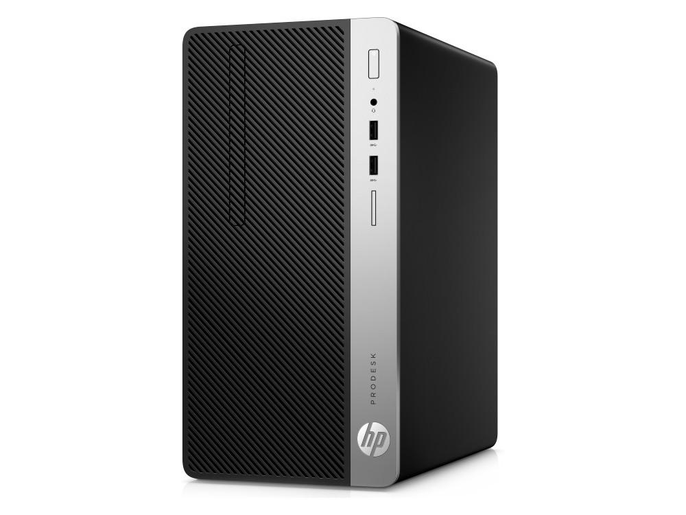 Системный блок HP ProDesk 400 G5 MT (4HR93EA) i3 8100 (3.6) / 4GB / 1TB / Int: Intel UHD 630 / DVD-RW / CR / Win10 Pro (Black/Silver) системный блок dell optiplex 3050 sff i3 6100 3 7ghz 4gb 500gb hd620 dvd rw linux клавиатура мышь черный 3050 0405