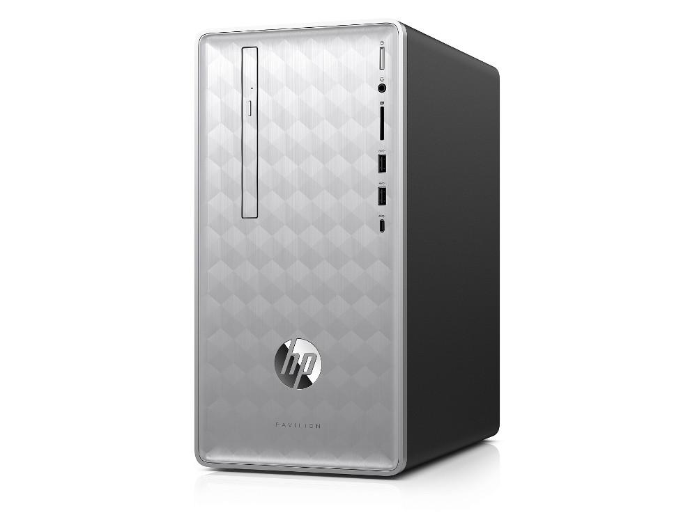 Системный блок HP Pavilion 590-p0004ur (4GM25EA) Pentium G5400 (3.7) / 8GB / 1TB / NV GTX1060 6GB / DVD-RW / WiFi / BT / Win10 (Natural Silver)
