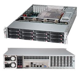 """Дисковая полка Supermicro """"Server R212SAS"""" 12*3.5""""Hot Swap no HDD/R920W в комплекте с контроллером для установки в сервер LSI SAS9280-8E"""