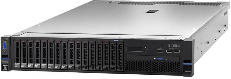Сервер Lenovo x3650M5 8871EQG E5-2650v4, 1x16GB, noHDD (upto 8/20x2.5), SAS3 M5210 ZM, no ODD, 4x1GbE, IMM, 1x900W (upto 2), Rack Rails, 3y NBD