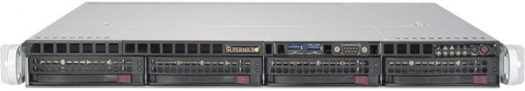 Сервер SERVER Personal (0665273) E3-1230v6, 1x16GB, NO HDD (upto 4x3.5), SATA C612 (RAID 0/1/10/5), 2x1GbE, IPMI, VGA, 1x350W(Fixed), 1U,Rack Rails,3Y