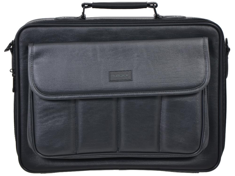 Сумка для ноутбука Sumdex CKN-002 Notebrief до 15.6-16 (искусственная кожа, чёрная, 39,5 x 32 x 11,5 см) сумка 002 2014