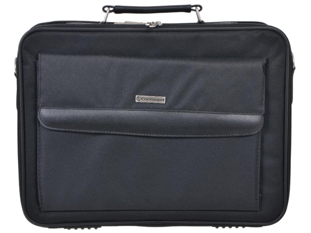 """Сумка для ноутбука Continent CC-115 до 15,6"""" (нейлон, черный, 41 x 31 x 9 см)"""