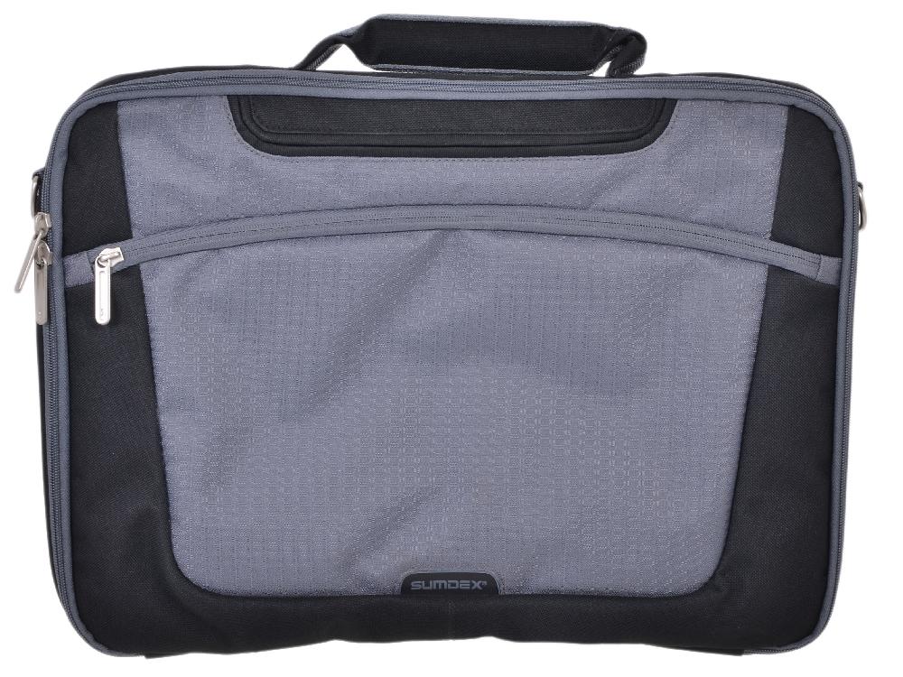 "Сумка для ноутбука Sumdex PON-301BK Single Compartment Computer Brief 15.6"" (нейлон/полиэстер,"