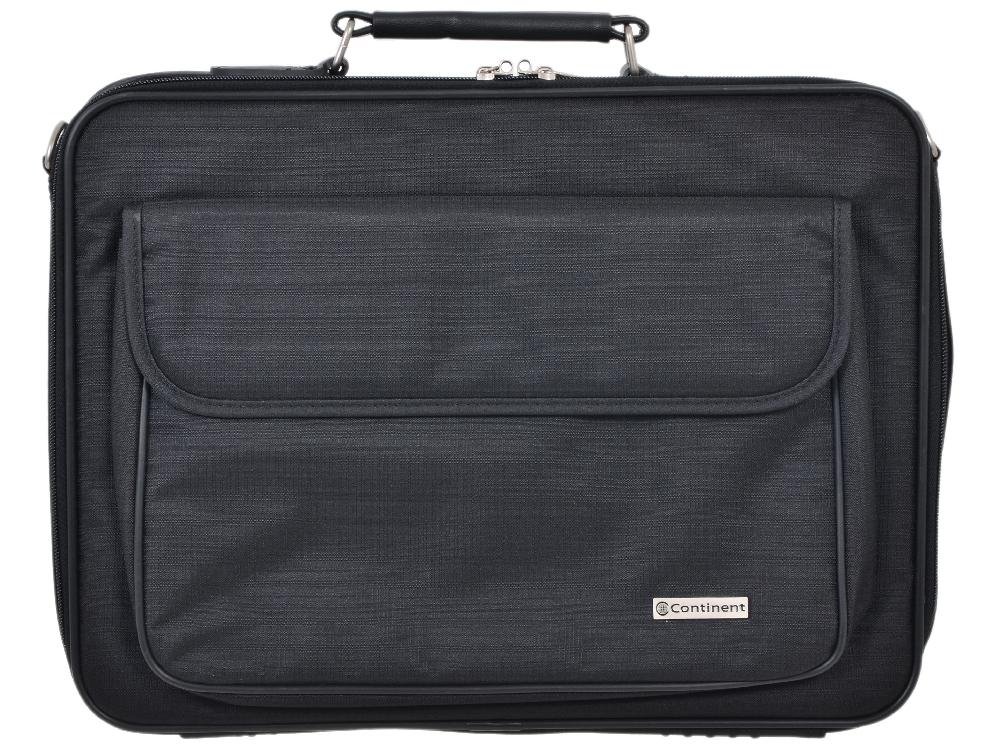 """Сумка для ноутбука Continent CC-03 до 15,4"""" (нейлон, черный, 41 x 31 x 9 см)"""