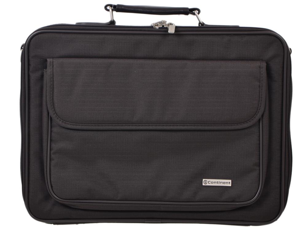 "Сумка для ноутбука Continent CC-03 до 15,4"" (нейлон, коричневый, 41 x 31 x 9 см)"