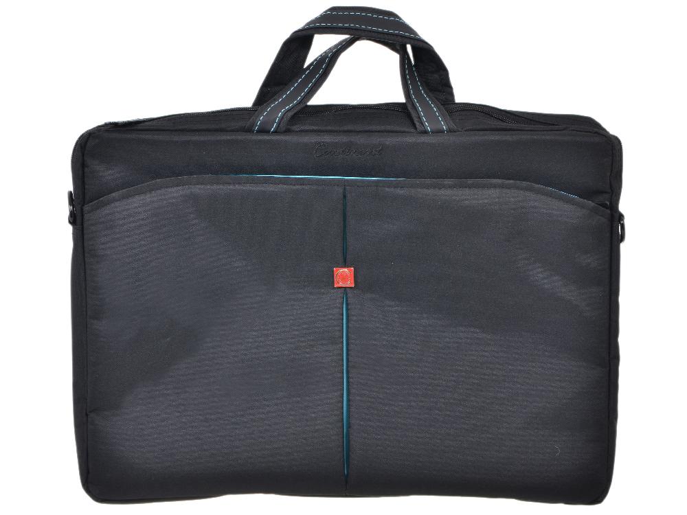 """Сумка для ноутбука Continent CC-01 до 15,6"""" (нейлон, черно-синий, 41 х 29 x 4 см)"""