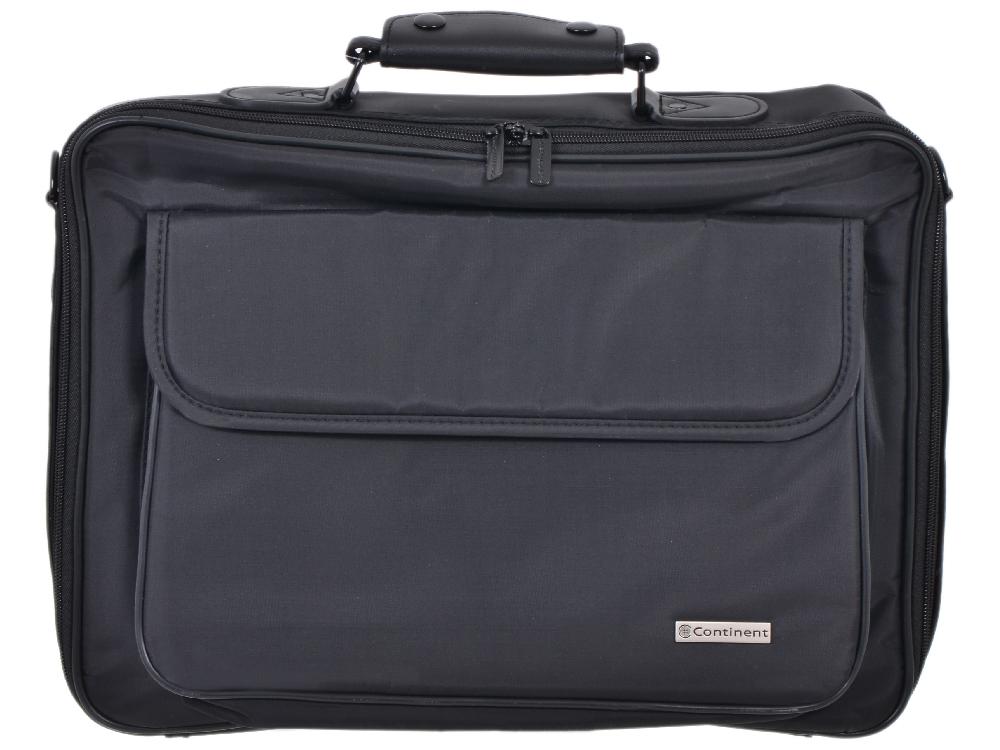 Сумка для ноутбука Continent CC-08 до 15,6 (нейлон, черный,  40 x 30 x 12 см) аксессуар сумка 15 6 continent cc 05 beige