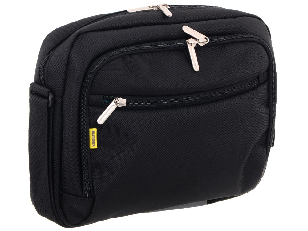 """Сумка для ноутбука женская Sumdex PON-348BK Netbook Case менее 10"""" (нейлон/полиэстер, черный, 2"""