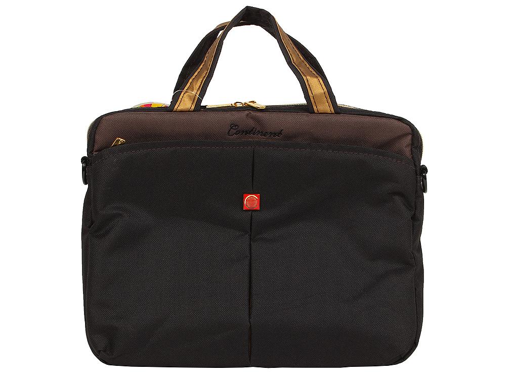 Сумка для ноутбука Continent CC-010 до 10.2 (нейлон, Black Caviar, 30 x 25 x 4 см) сумка для ноутбука 15 continent cc 02 black caviar нейлон