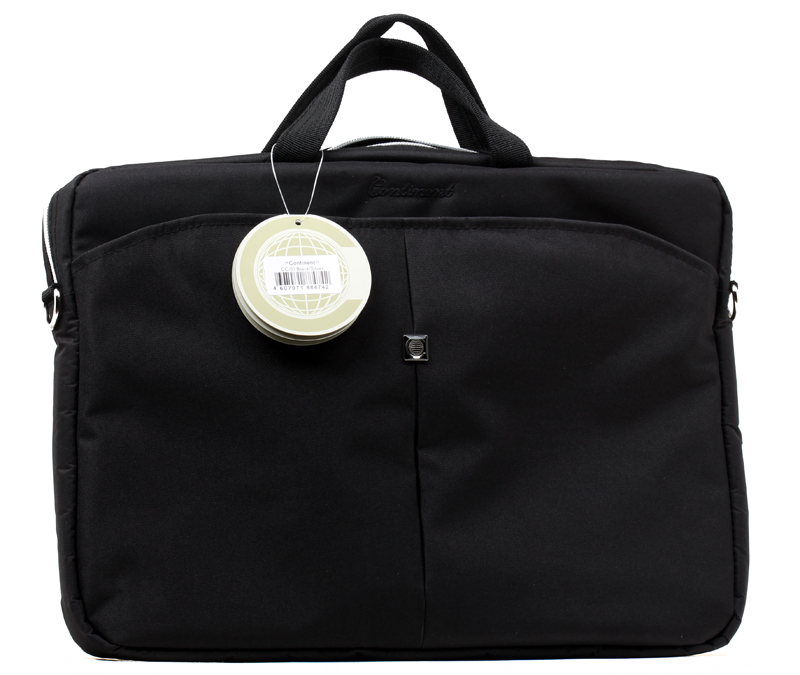 Сумка для ноутбука Continent CC-01 до 15,6 (нейлон, Black/Silver, 41 х 29 x 4 см) opulent 15 01
