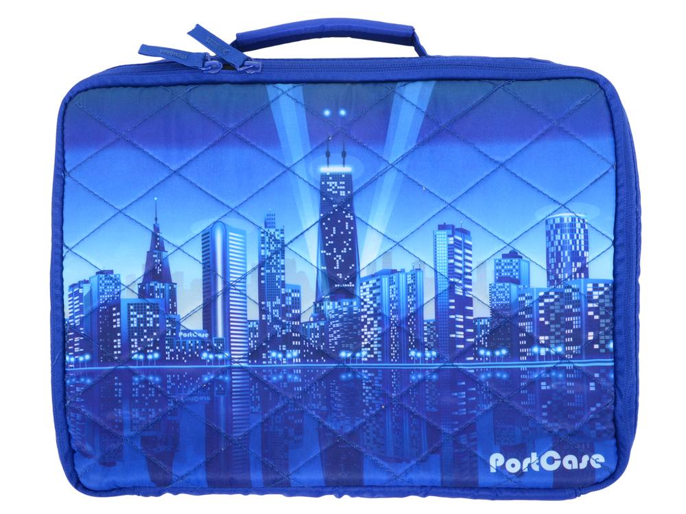 Сумка для ноутбука PortCase KCB-13 City до 13.3 (Рисунок, нейлон/полиэстер, 35 х 26 х 5 см.) полка навесная metaltex city 35 х 13 х 26 см