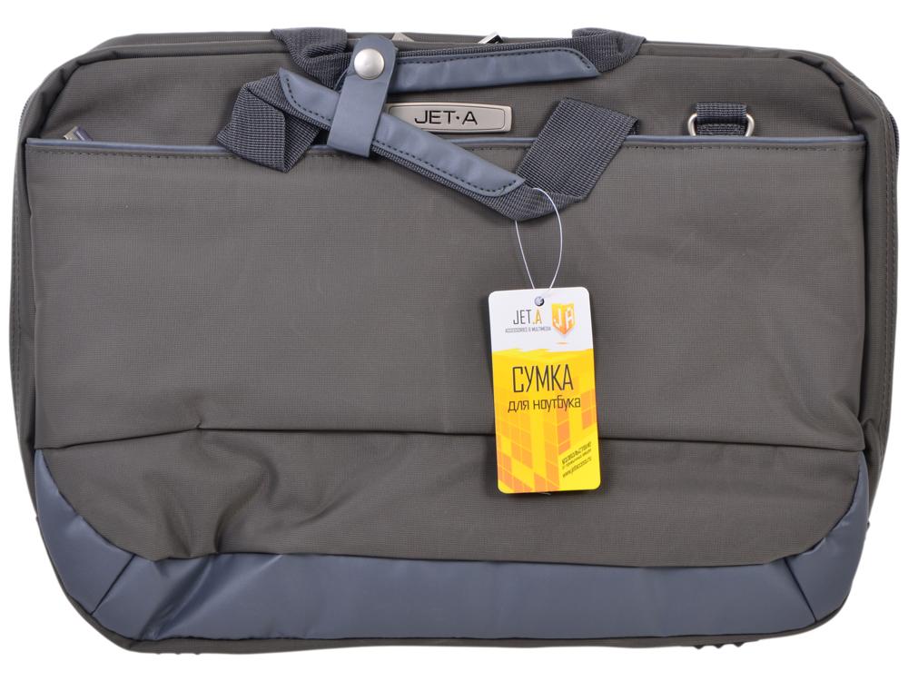 Сумка для ноутбука Jet.A LB15-01 до 15,6 (Серый, качественный нейлон/полиэстер, современный дизайн, плечевой ремень в комплекте, SIZE 410*90*310 мм)