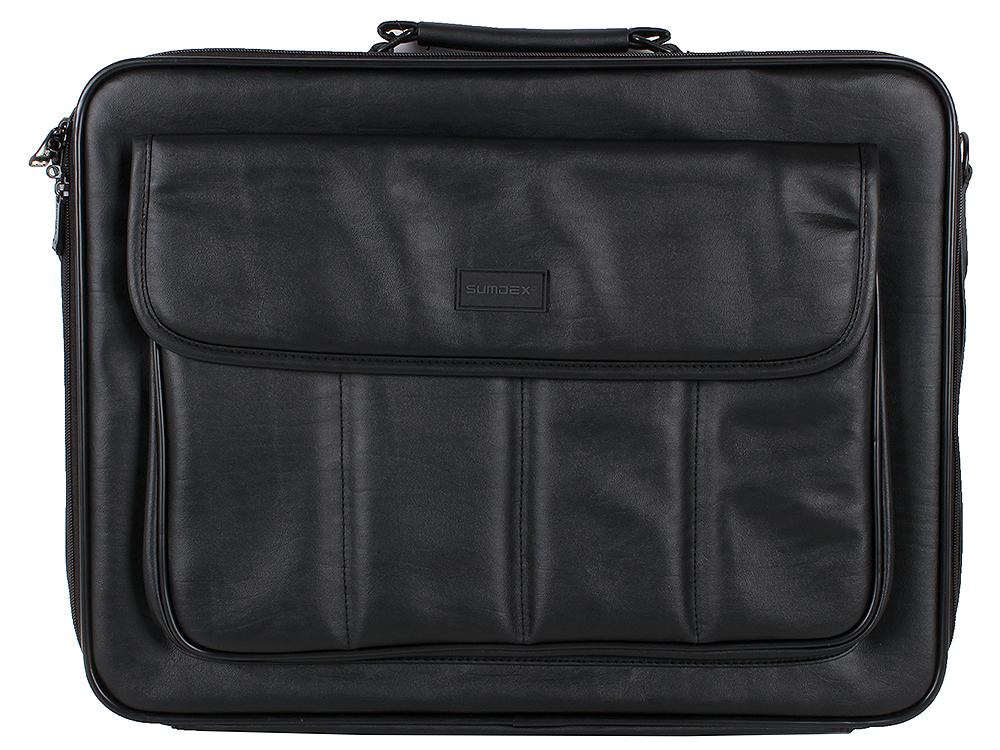 Сумка для ноутбука Sumdex CKN-003 Notebrief до 17,3 (искусственная кожа, чёрная, 45 x 35 x 12 см)