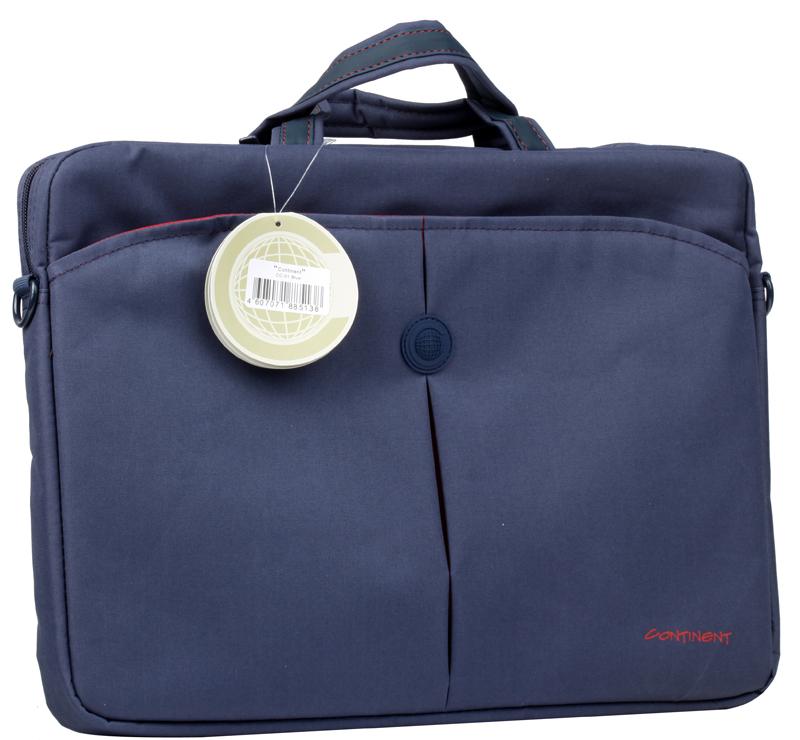 все цены на Сумка для ноутбука Continent CC-01 Blue до 15,6