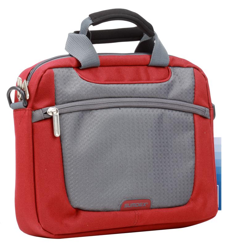 Сумка для ноутбука Sumdex PON-308RD Netbook Case до 10 (нейлон/полиэстер, красный, 29,8 х 21 х 5,1 см.) сумка для ноутбука sumdex pon 308bu netbook case до 10 нейлон полиэстер голубой 29 8 х 21 х 5 1 см