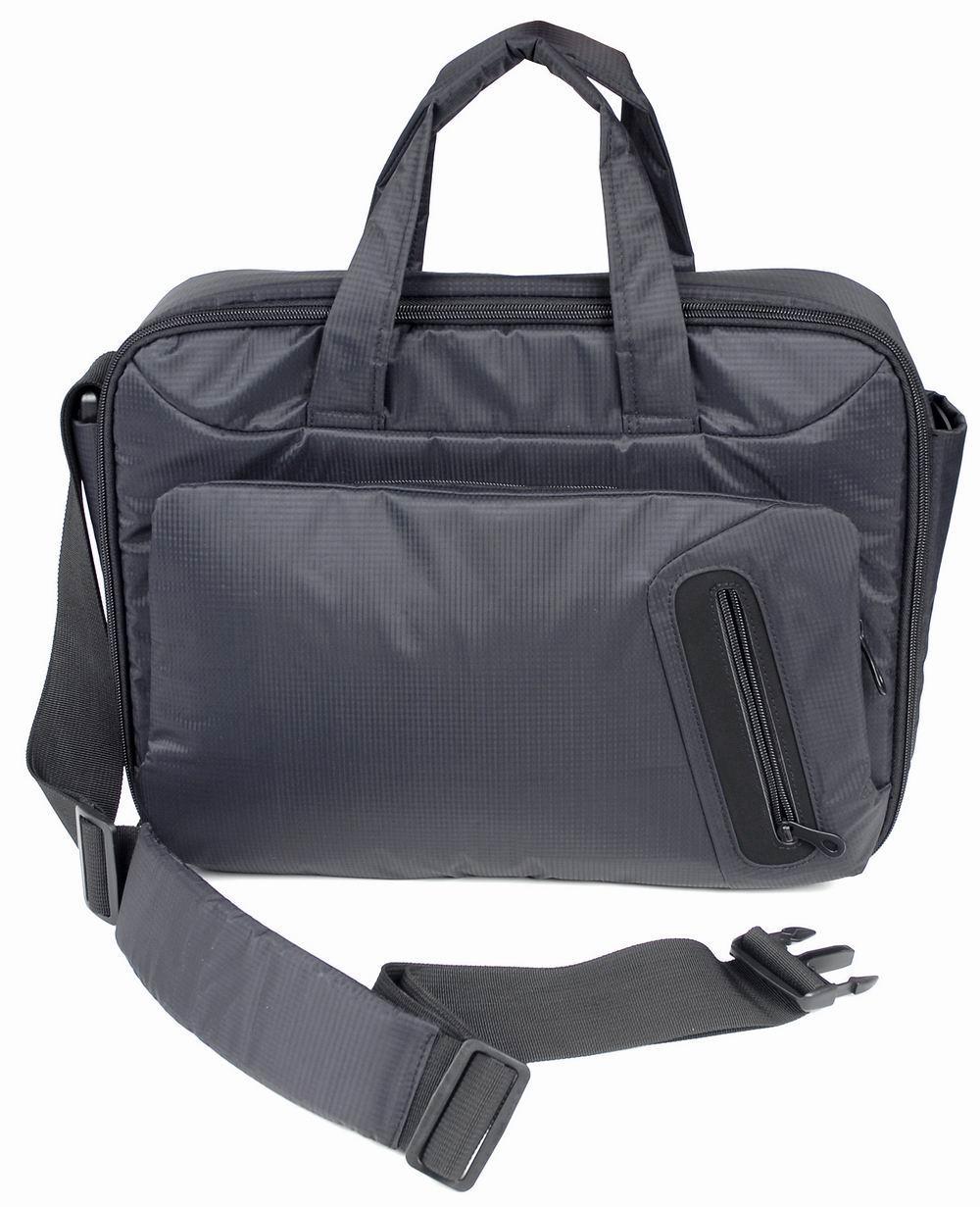 """Сумка для ноутбука Jet.A LB15-24 до 15,6"""" (Черный, качественный нейлон/полиэстер, современный дизайн, SIZE 415*80*315мм)"""
